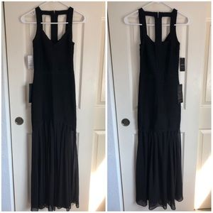 BEBE Fit & Flare Bandage Gown